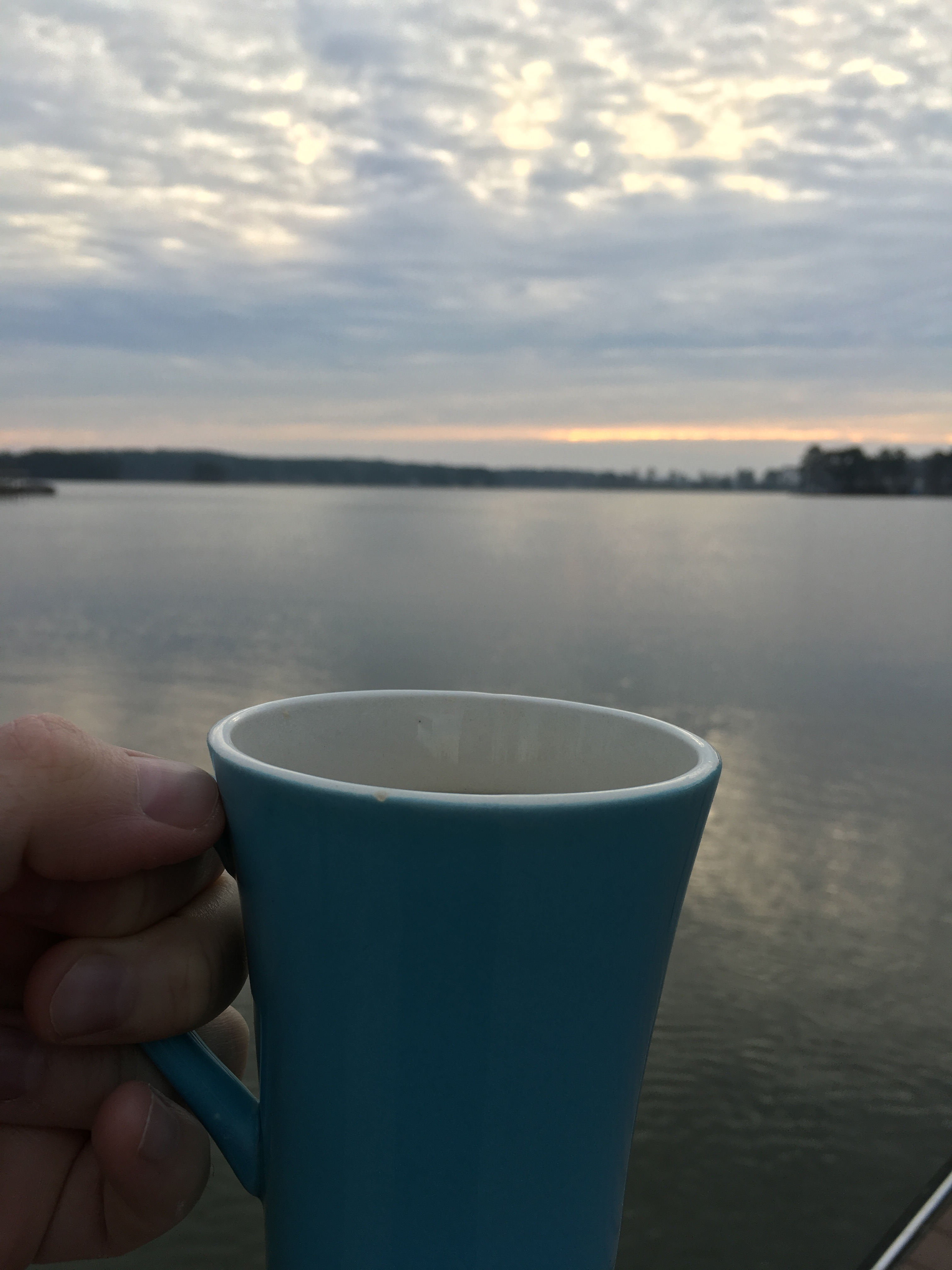 Morning Coffee on New Year's Day at Lake Martin