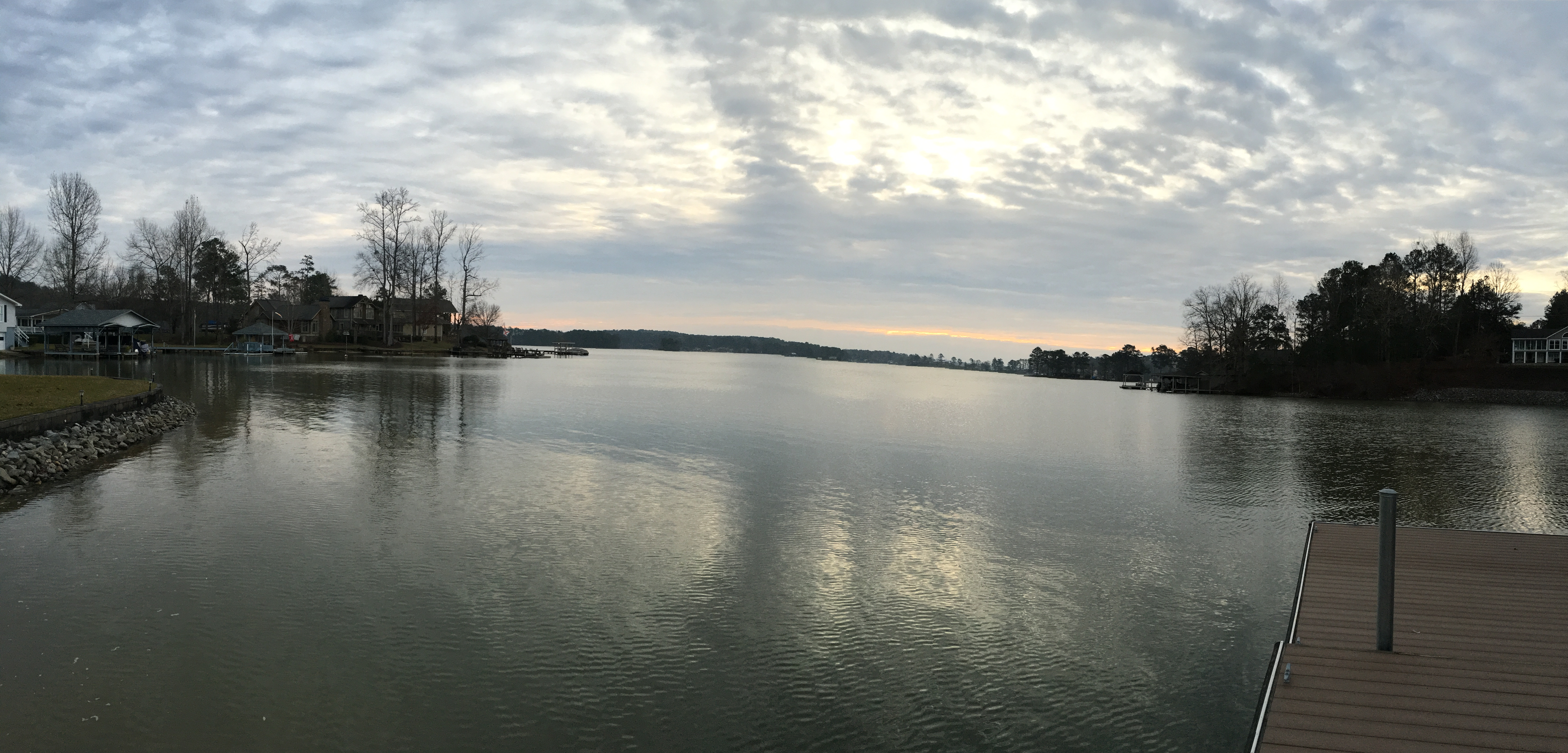 A view of the unusually full Lake Martin on New Year's Day